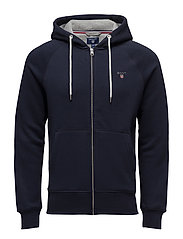 GANT ORIGINAL FULL ZIP SWEAT HOODIE - EVENING BLUE