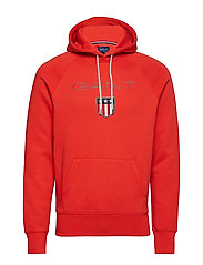 GANT SHIELD HOODIE - BLOOD ORANGE