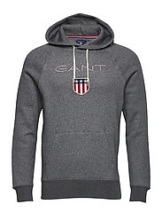 GANT SHIELD SWEAT HOODIE - CHARCOAL MELANGE