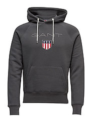 GANT SHIELD SWEAT HOODIE - DARK GRAPHITE