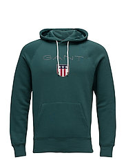 GANT SHIELD SWEAT HOODIE - JUNE BUG GREEN
