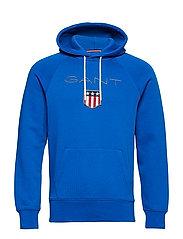 GANT SHIELD HOODIE - LAPIS BLUE