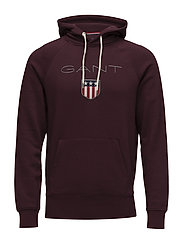 GANT SHIELD SWEAT HOODIE - PURPLE FIG