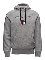 GANT SHIELD SWEAT HOODIE - GREY MELANGE