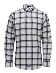 OP1. BRUSHED OXFORD CHECK REG BD - WHITE