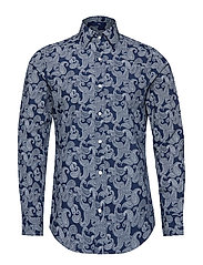 O1. PAISLEY PRINT SLIM POINT - PERSIAN BLUE