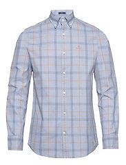 D1. HEATHER OXFORD  PLAID REG BD - ATLANTIC BLUE