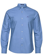 THE BEEFY OXFORD SHIRT SLIM BD - MID BLUE