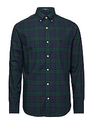 D1. WINTER TWILL PLAID REG BD - TARTAN GREEN