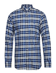 O1. WINTER TWILL PLAID REG BD - COLLEGE BLUE