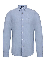 THE LINEN SHIRT SLIM BD - CAPRI BLUE