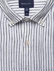 Gant - THE LINEN STRIPE REG SS BD - chemises de lin - white - 2