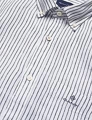 Gant - THE LINEN STRIPE REG SS BD - chemises de lin - white - 3