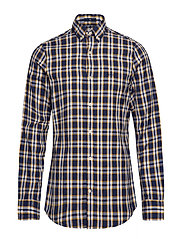 O1. WINDBLOWN OXFORD PLAID SLIM BD - IVY GOLD