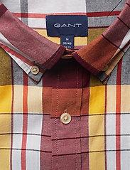 Gant - D1. OXFORD MADRAS REG BD - ruutupaidat - mahogny red - 2