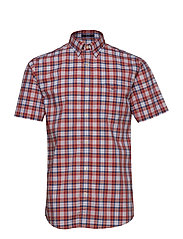 O2. TP BROADCLOTH CHECK REG HBD SS - MINERAL RED