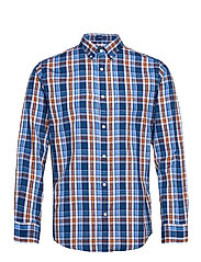 D1. WINDBLOWN OXFORD CHECK REG BD - PACIFIC BLUE