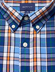 GANT - D1. WINDBLOWN OXFORD CHECK REG BD - oxford shirts - pacific blue - 2