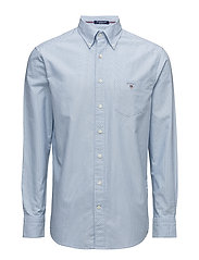 O1. THE PRINTED OXF DOT REG BD SMU - CAPRI BLUE