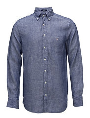 THE LINEN SHIRT REG BD - COLLEGE BLUE