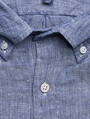 Gant - THE LINEN SHIRT REG BD - puuvillapaidat - college blue - 2
