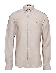 THE LINEN SHIRT SLIM BD - DRY SAND