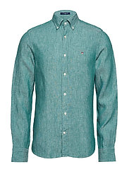 THE LINEN SHIRT SLIM BD - IVY GREEN