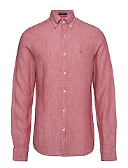 THE LINEN SHIRT SLIM BD - MINERAL RED