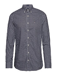 THE BROADCLOTH GINGHAM SLIM BD - MARINE