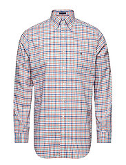 THE B-CLOTH 3 COL GINGHAM REG BD - CORAL ORANGE