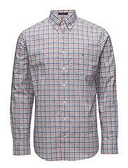 THE B-CLOTH 3 COL GINGHAM REG BD - STRONG CORAL
