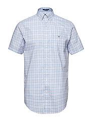 THE B-CLOTH 3COL GINGHAM REG SS BD - CAPRI BLUE