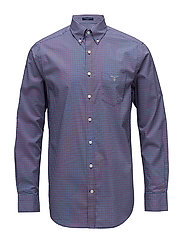 BROADCLOTH GINGHAM REG BD SMU - COLLEGE BLUE
