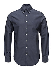 O2. HEATHER OXFORD SLIM BD - MARINE