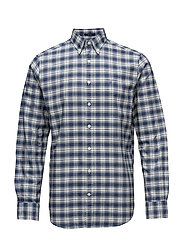 OP2. HEATHER OXFORD PLAID REG BD - PERSIAN BLUE
