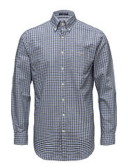 THE OXFORD 3 COL GINGHAM REG BD - MARINE