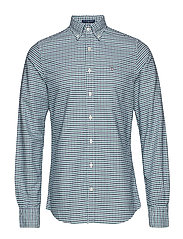 THE OXFORD 3 COL GINGHAM SLIM BD - IVY GREEN