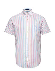 THE BROADCL 3 COL STRIPE REG SS BD - PINK ROSE