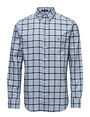 COMFORT OXFORD CHECK REG BD - CAPRI BLUE
