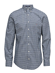 THE POPLIN GINGHAM REG BD - PERSIAN BLUE