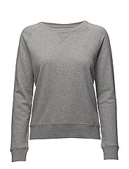 O1. SUNBLEACHED C-NECK SWEAT - LIGHT GREY MELANGE