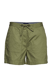 D2. PP DRAWCORD SHORTS - OIL GREEN