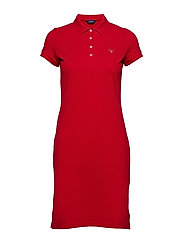 O1. THE ORIGINAL PIQUE DRESS SS - RED