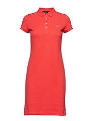 O1. THE ORIGINAL PIQUE DRESS SS - WATERMELON RED