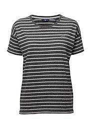 Gant - O. Dropped Shoulder Striped T-Shirt