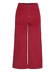O1. CULOTTES WIDE CORD JEANS - MAHOGNY RED