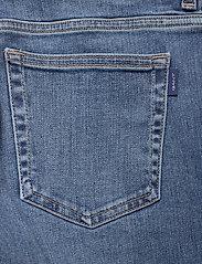 GANT - SLIM SUPER STRETCH JEANS - slim jeans - semi light blue broken in - 4