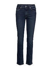 SLIM SUPER STRETCH JEANS - DARK BLUE WORN IN