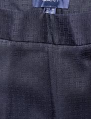 Gant - D1. SIGNATURE WEAVE CIGARETTE PANT - suorat housut - evening blue - 3