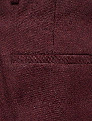 Gant - D1. WASHABLE STR WOOL TAPERED PANT - slim fit housut - mahogny red - 4
